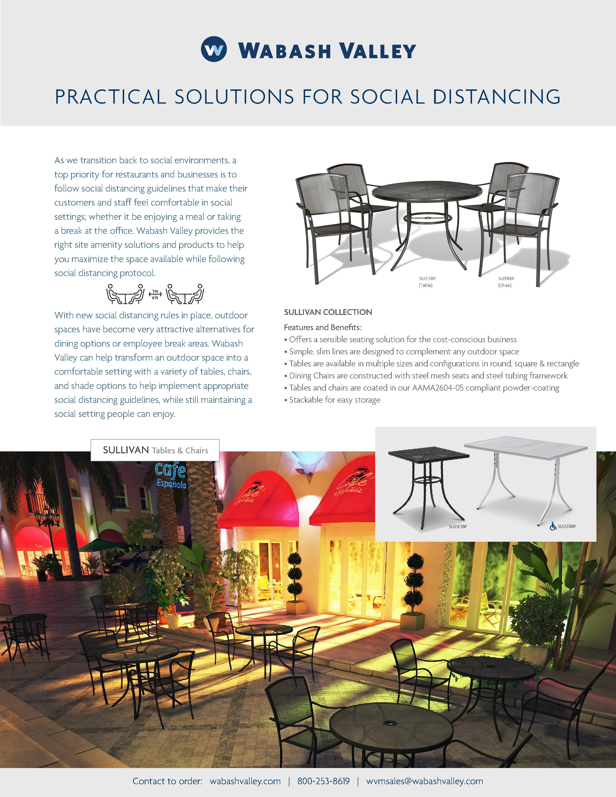 WV Practical solutions for social distancing